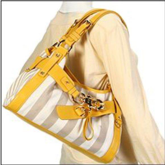 Francesco Biasia Yellow Shoulder Bag